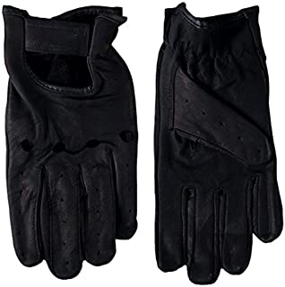 Hot Leathers Leather Driving Gloves (Black, Small)