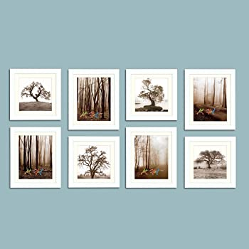 Art Street Individual Wall Photo Frame (White, 4 Units of 8x10 and 8x8 Each)