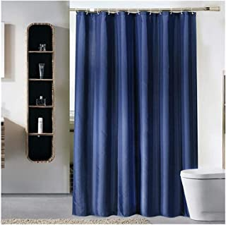 Cortina de Ducha Azul Oscuro Impermeable Cortina de Ducha del Cuarto de baño Bañera Cobertura Extra Gran Anchura de 12 Gan...