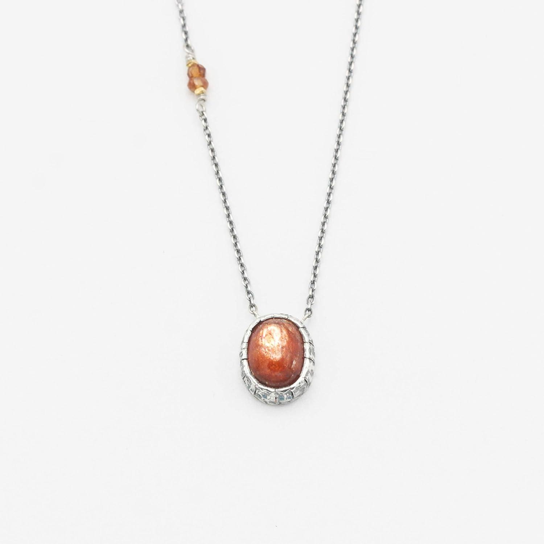Oval sunstone pendant set Spasm price necklace multi orange depot with on sapphire