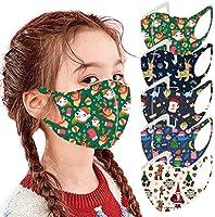 Atom Little 5PC Christmas Face Bandanas Unisex Children Protection Washable Foggy Haze Protective