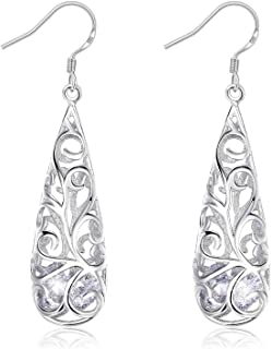 JRosee Swarovski 925 Sterling Silver Earrings for Females Women Ladies Girl friend Gift JRosee Jewelry JR493
