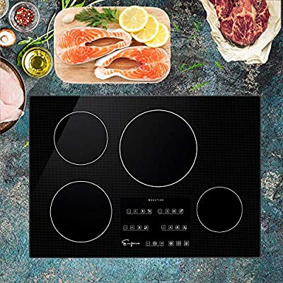 """Empava 30"""" Induction Cooktop Electric Stove Black Vitro Ceramic Smooth Surface Glass EMPV-IDC30"""