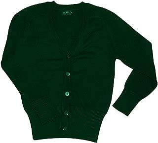 Girls School Cardigan School Uniform Wool Cotton Mix Knitted Cardigans
