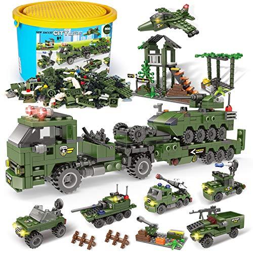 Zac-T ビルディングブロック 990 PCS ピースゃ 積み木 ブロック おもちゃ クリエイティブパーツ 戦車 自衛隊 軍事車両 戦闘車両 ヘリコプター は 3D立体パズル DIY 模型 知育玩具 親子ゲームおもちゃ 6歳以上の男の子と女の子に最適 新