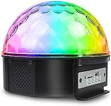 JCCOZ-URG Disco Light Crystal Stage Lamp 9 LED Magic Ball Lights 7 Mode Flash Rechargeable for Bar Club Spotlight JCCOZ-URG