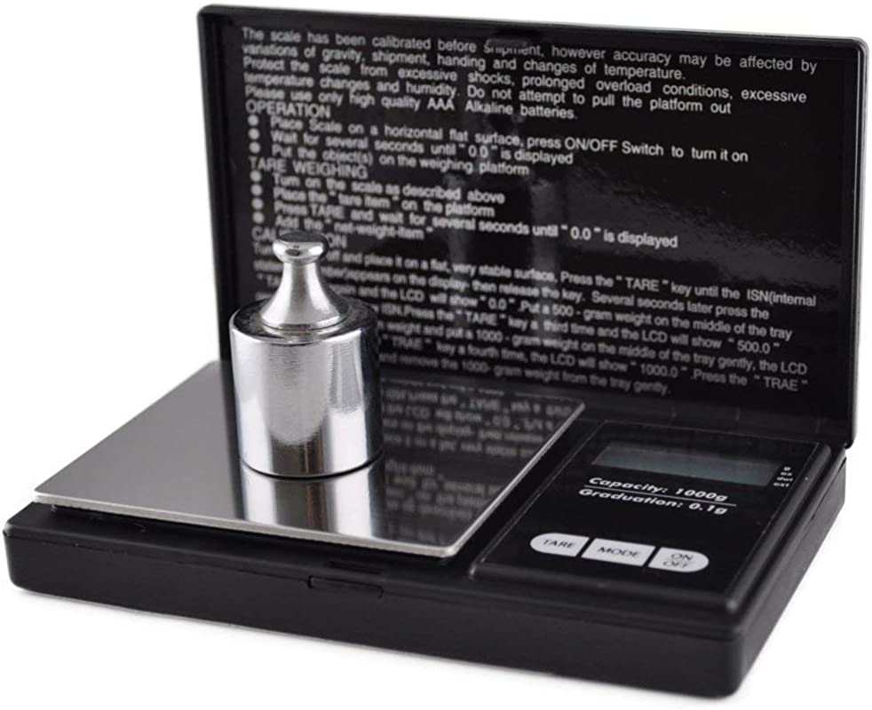 1000 Gram Digital Pocket Scale 1000 G X 0 1g With Removable Stainless Steel Weighing Surface Doubles As Weighing Tray