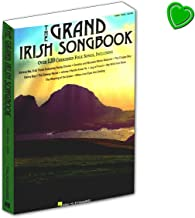 The Grand Irish Songbook Over 120 Cherished Folk Songs - Libro de canciones para piano, guitarra y canto con pinza para partituras