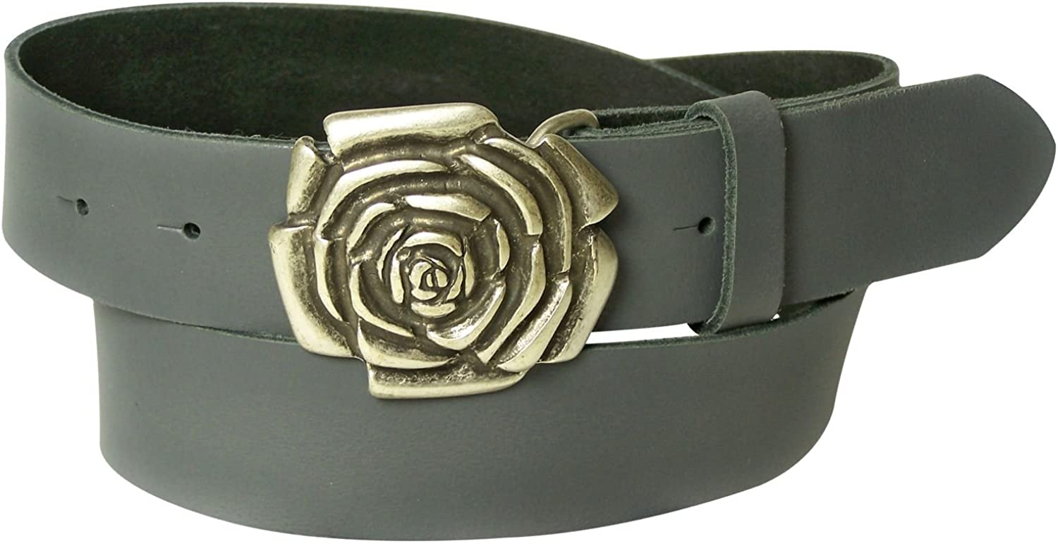 FRONHOFER Real leather belt, pink buckle, pink, mint, white for women 1.5' 4 cm, Size waist size 33.5 IN M EU 85 cm, color Grey