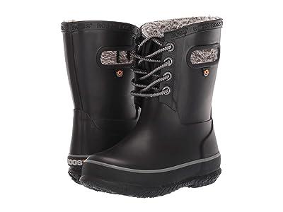 Bogs Kids Amanda Plush Lace (Toddler/Little Kid/Big Kid) (Black) Girls Shoes