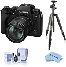 Fujifilm X-T4 Mirrorless Camera with XF 18-55mm f/2.8-4 R LM OIS Lens, Black - with Vanguard VEO 2 265CB 5-Section Carbon ...