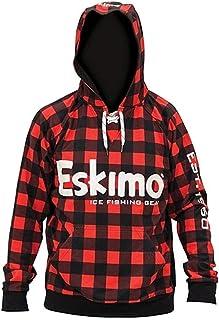 Eskimo Unisex Plaid Hoodie, Red/Black, X-Large/Tall