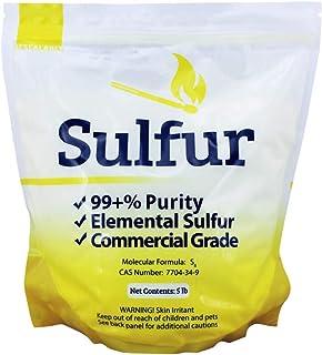 Duda Energy 5 lb Ground Yellow Sulfur Powder Commercial Grade Pure Elemental Commercial Flour No Additives Brimstone