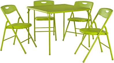 green folding chairs