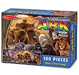 Noah's Ark: 100-Piece Floor Puzzle + FREE Melissa & Doug Scratch Art Mini-Pad Bundle [44004]