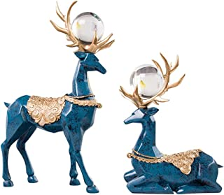 PPCP Crafts Home Decorations Creative Decorations Modern Simple Craft Deer Sets (Color : Blue)