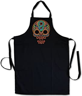 Urban Backwoods Inca Skull Delantal De La Cocina Cocina Parrilla