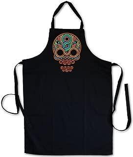 Urban Backwoods INCA Skull ?J? Barbecue BBQ Kitchen Cooking Apron ? Inka Mayans Maya Aztecs Azteken American Indians Sugar Candy Skull Mexican Tattoo Flash Psychobilly Latino