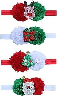 OULII Diademas de Navidad Bandas del Pelo para Niñas Accesorios para Cabello de Bebes - 4 Piezas