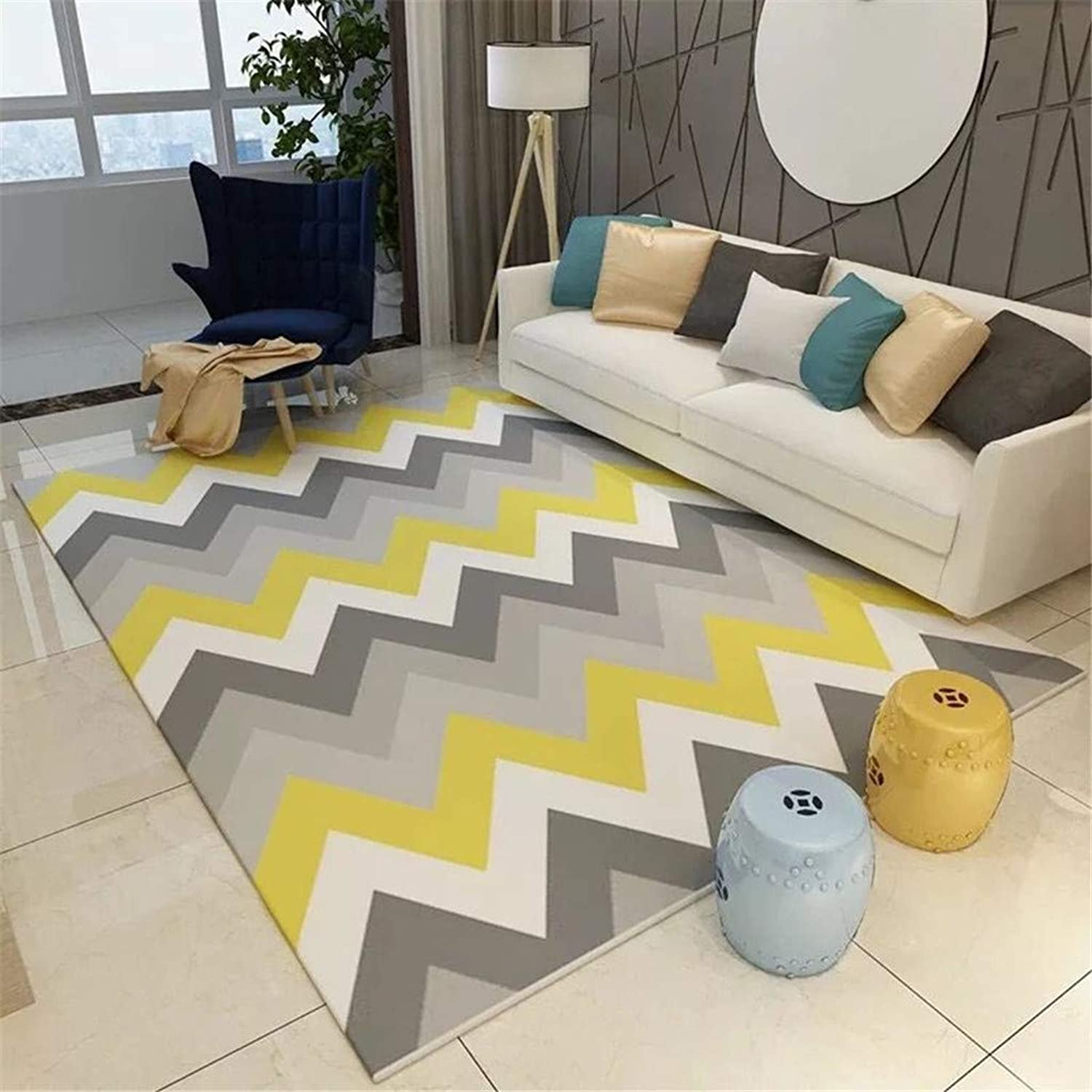 Durable, Modern Minimalist Sofa Coffee Table Cushion Bedroom Living Room Area Carpet (color   G, Size   120X160cm) Welcome Door Mats for Home Hotel (color   H, Size   160x230cm)
