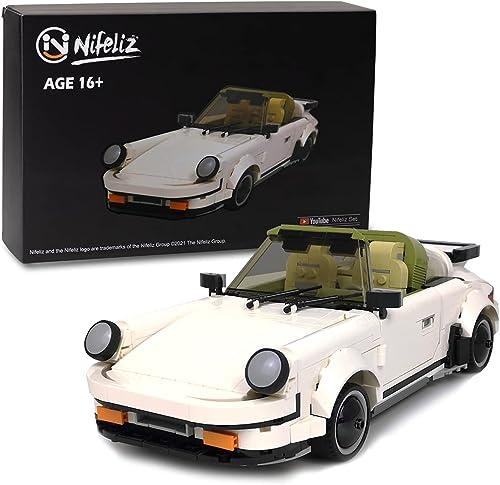 2021 Nifeliz Mini Sports Car outlet online sale Turbro MOC Building wholesale Blocks and Construction Toy, Adult Collectible Model Cars Set to Build, 1:14 Scale Race Car Model (882 Pcs) outlet sale