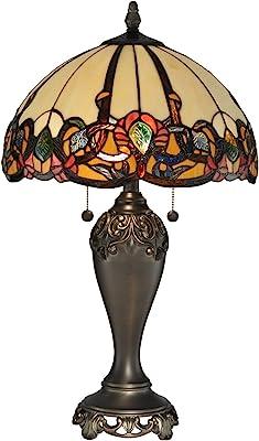 Dale Tiffany Lamps TT90235 Northlake Table Lamp, Antique Golden Bronze