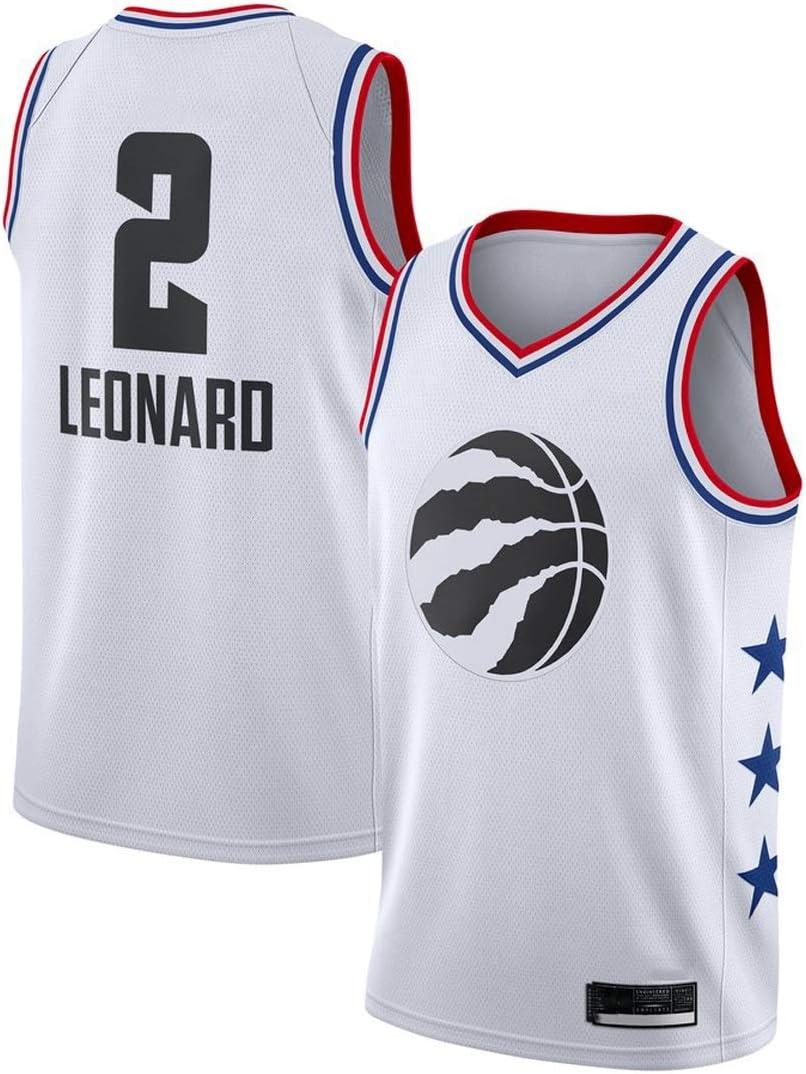 Unisex Sostenitore Maglia da Basket Alta Elasticit/à(S-XXL) G/&F Maglia da Basket Toronto Raptors Kawai Leonard N 2 Size : S