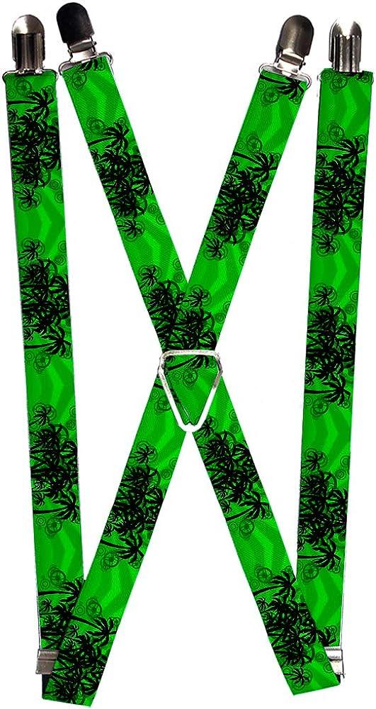 Buckle-Down Men's Suspender-Palm Trees, Multicolor, One Size