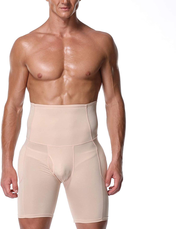 Defitshape Men's Padded Shapewear Shorts Boxer Brief Butt Lift High Waist Soft Shaper Panties