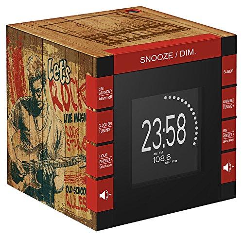BigBen interactieve wekker met projector, radio, digitale klok, FM, PLL, 87,5 tot 108 MHz, LCD-display, 120 mm