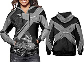 New Fans Can-Am Grey Sublimation Fullprint Women Hoodies Size S - XXXL