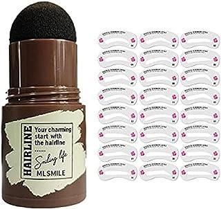 One Step Eyebrow Stamp Shaping Kit, Eyebrow Powder Stamp Waterproof, Brow Stamp Shaping Kit Eyebrow Definer,with 24 Reusab...