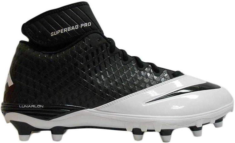 Nike Lunar Super Bad Pro TD Men's Molded Football Cleats (Black-White)