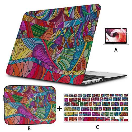 Estuche para Macbook Air 13 Estuche para Macbook con Estampado de Leopardo de Moda Colorida Carcasa Dura Mac Air 11'/ 13' Pro 13'/ 15' / 16'con Funda para portátil para Macbook Versión 2008-2020