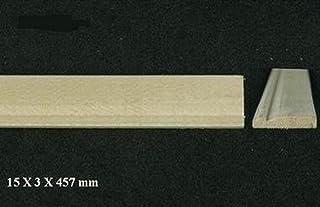 Melody Jane Puppenhaus Sockelleiste 23 x 9//16  Sockelleiste 600 x 14mm Unbehandeltes Holz