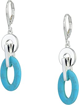 Turquoise Link Drop Earrings