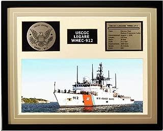 Navy Emporium USCGC Legare WMEC-912 Framed Coast Guard Ship Display Brown