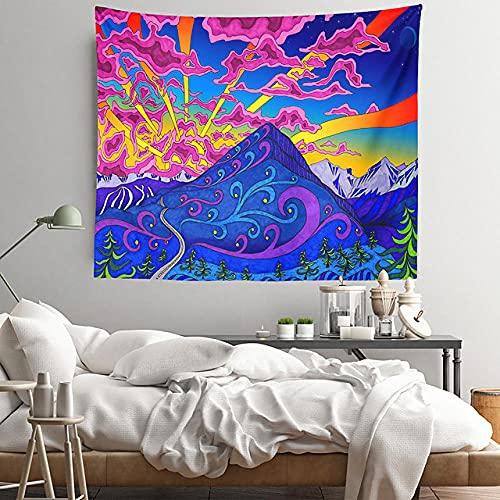 Pintura al óleo estilo tapiz de pared decoración artística manta cortina colgante hogar dormitorio sala de estar decoración poliéster H150xW200cm
