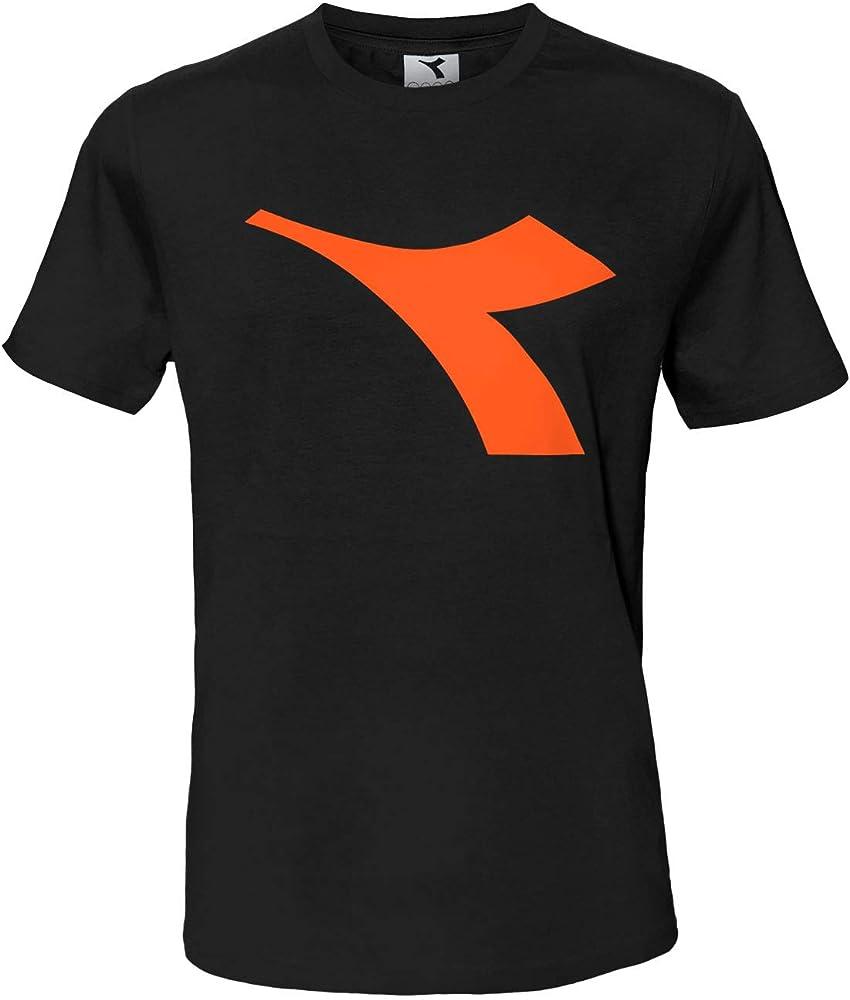 Diadora t-shirt , maglietta a maniche corte per  uomo , con logo in risalto , 90% cotone, 10% viscosa DiadoraTShirt177173_1_2
