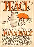 World of Art Global Konzert-Poster, Vintage-Stil, Joan Baez