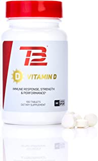 TB12 Vitamin D3 5,000 IU (100 Day Supply) - For Bone Health, Immune Support & Muscle Recovery, Non-GMO, NSF Certified for ...