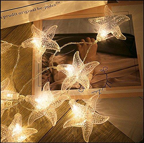 Xingyue Mythology Luces De Luces LED Luces De Estrellas De Mar Luces Decorativas Creativas De La HabitacióN Del Dormitorio Luces De La Linterna Del Viento NóRdico