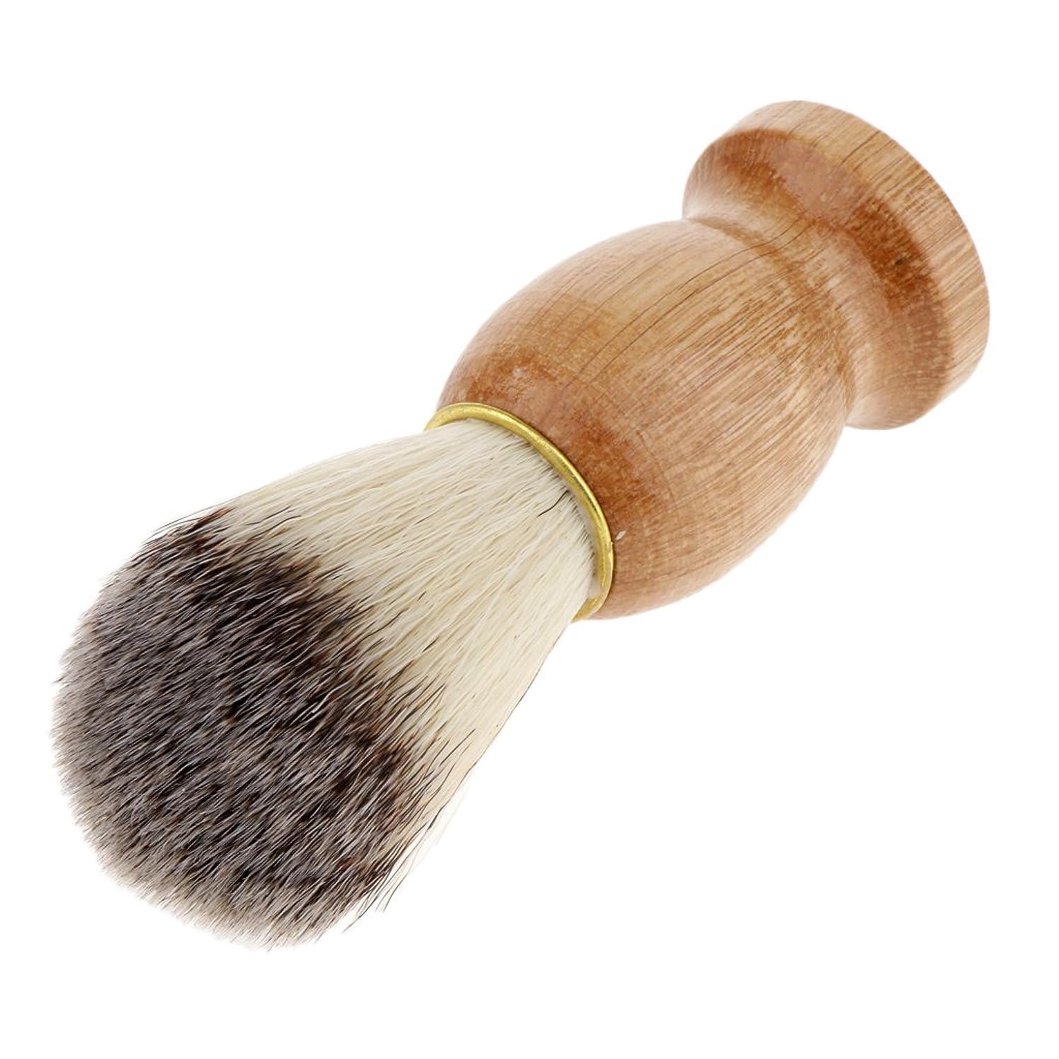 マカダム意欲トランペットBlesiya シェービングブラシ コスメブラシ 木製ハンドル メンズ ひげ剃りブラシ プレゼント