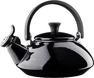 LE CREUSET Zen Tetera, Acero esmaltado/Mango fenólico, Negro (Satinado), 1,6 L