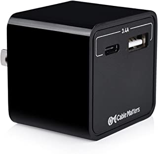 Cable Matters 17W 3A USB C Charger Combo with USB-A