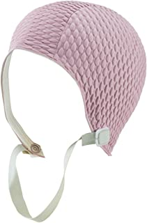 Latex Swim Cap - Women Stylish Swimming Cap Great for Ladies, Perfect to Keep Hair Dry - Suitable for Long Hair - Many Colors and Sophisticated Styles Available, Also Offered with Chin Strap