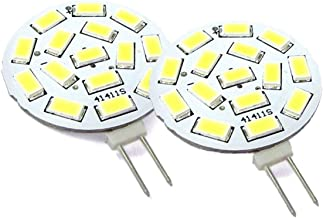 LEDLUX 2 stuks LED-lampen G4 Dubbele stekker DC AC 12V 24V 3.5W 350 Lumen Warm wit 15 SMD 5630 10V-30V [Energie-efficiënti...