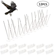 FOONEE Bird Spikes, 12pcs Stainless Steel Defender Spikes Bird Blinder Pigeon Spikes Kit, Bird Repellent Discs Set, Anti-Climbing Security For Fence Walls Bird Deterrent Product To Keep Birds Away