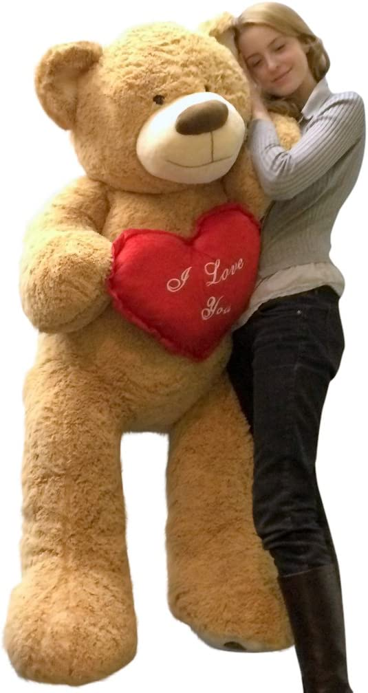 I Love You Giant Teddy Bear 5 Holds Tan El Challenge the lowest price of Japan ☆ Paso Mall Foot Soft Inch Heart 60