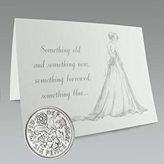 Authentic Sixpence Coin and Card for The Bride's Shoe | Something Old, Something New, Something Borrowed, Something Blue, ...
